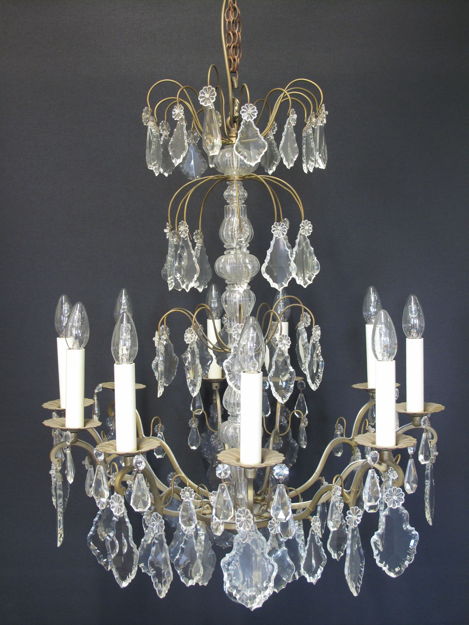 G p cohn antique chandeliers repairs restoration 10 arm french chandelier ca 1910 aloadofball Image collections