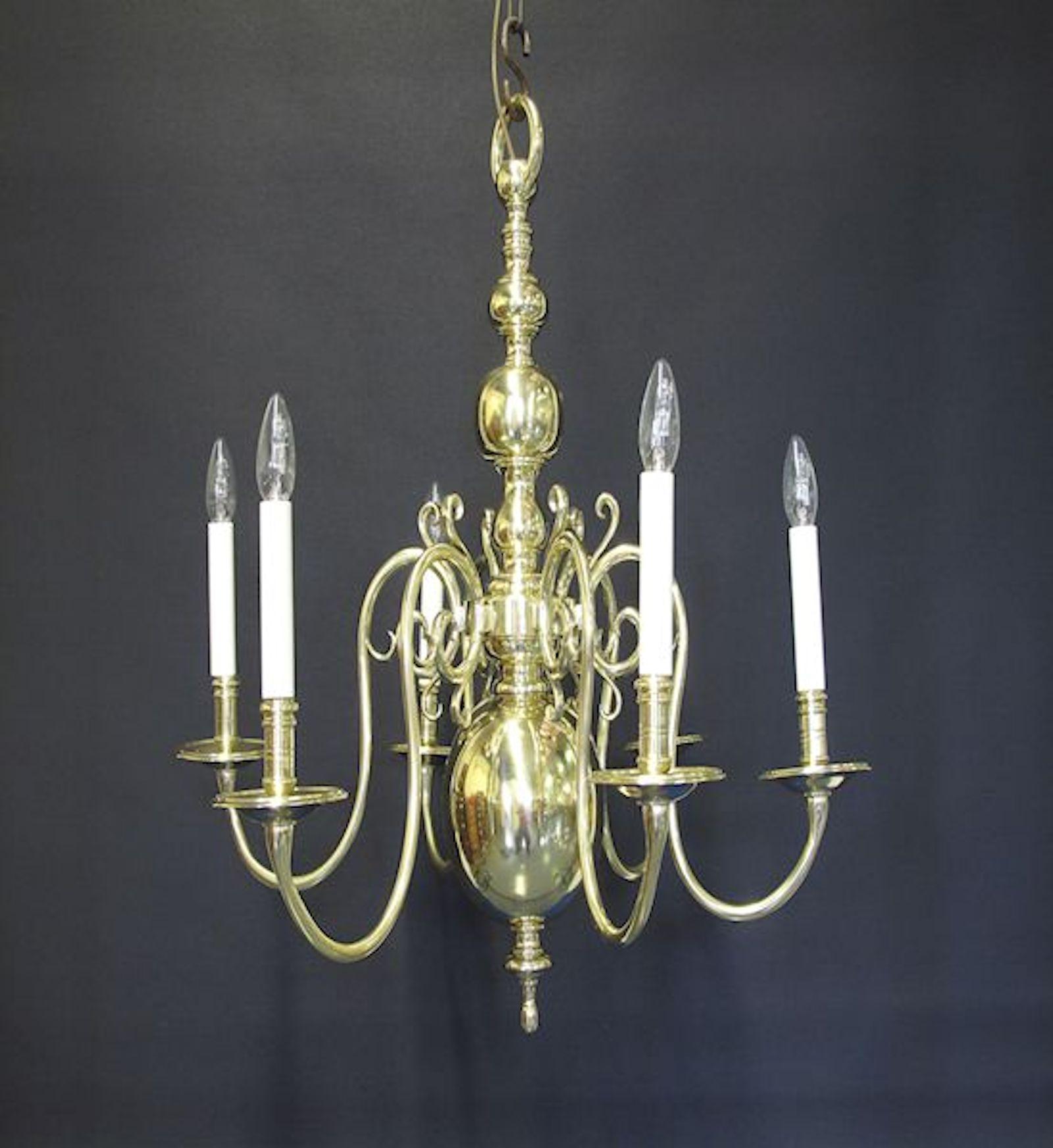 G p cohn antique chandeliers repairs restoration 6 arm dutch style chandelier ca 1920 aloadofball Images