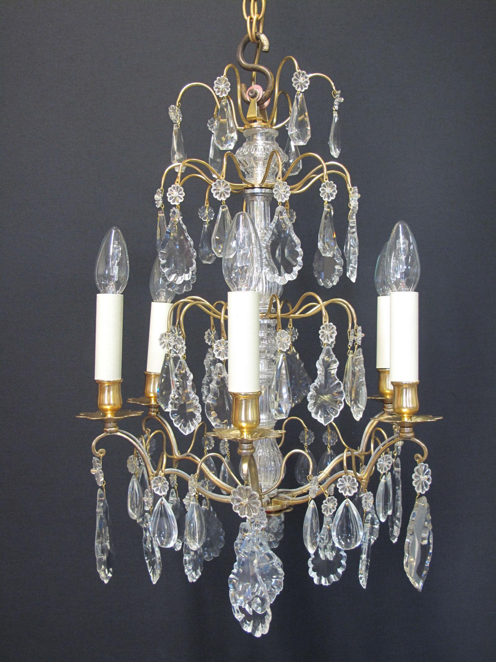 G p cohn antique chandeliers repairs restoration 6 arm french chandelier ca 1910 arubaitofo Gallery