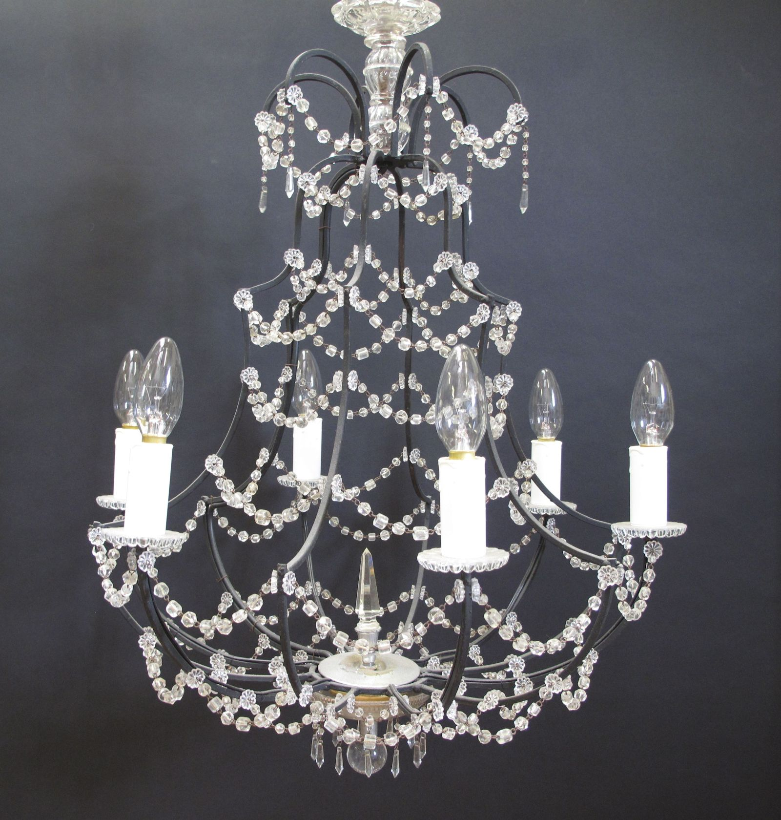 G p cohn antique chandeliers repairs restoration - Chandelier glass beads ...